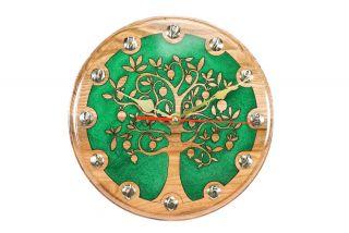 Wall Clock Pomegranate tree