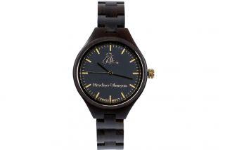 Women's wooden wrist watch- black