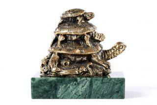 Bronze sculpture Turtles