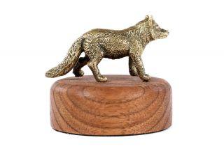 Bronze sculpture Wolf