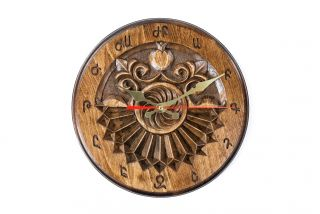 Wall clock with Armenian letters
