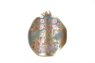 Brass ring miniature Pomegranate
