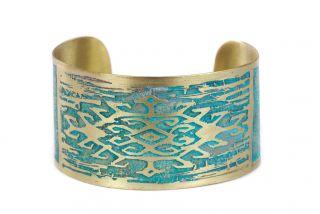 Brass bracelet miniature Carpet