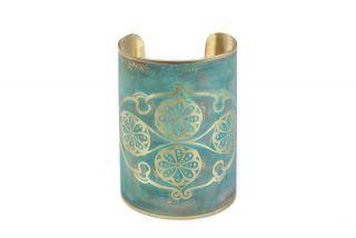 Brass bracelet miniature Flowers