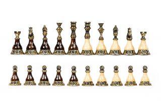 Chess figures bronze-wood