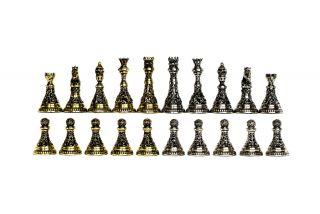 Шахматные бронзовые фигурки