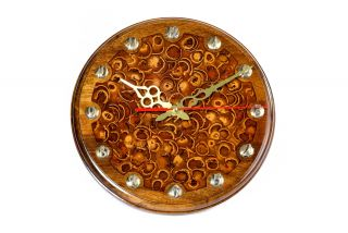 Clock with nut peel and epoxy