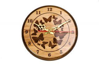 Wall Clock Butterflies