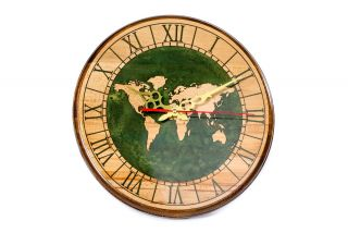 Clock with World map