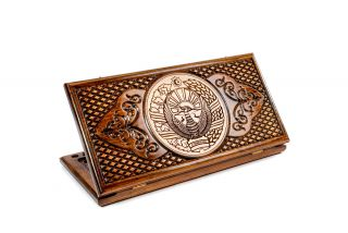 Coat of Arms of Uzbekistan backgammon classic