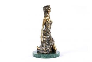 Bronze sculpture Girl on her knees