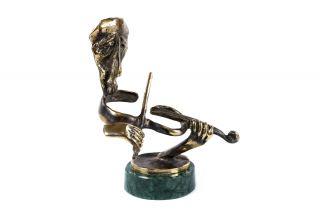 Bronze sculpture the Violinist