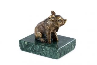 Bronze sculpture the Piglet