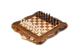 Chess with copyrighted Mount Ararat outline