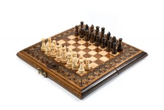 Chess-backgammon classic Eternity with patterns