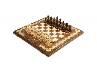 Ornamental Chess-backgammon classic