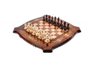 Шахматы-нарды с авторским оформлением контура